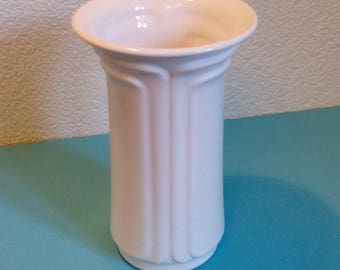 Vase white Dutch Ceramics signed 1960
