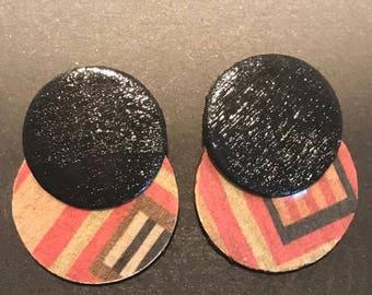 Kente Post Earrings