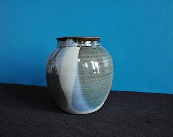 Cracked ceramic vase