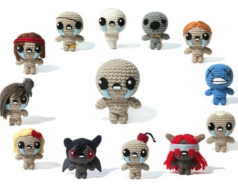 The Binding of Isaac - character collection - Amigurumi - crochet pattern