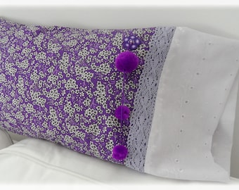 Small Japanese flower pillow cover