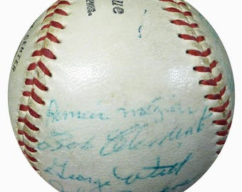 1958 Pittsburgh Pirates Team 25 Sigs w/ Roberto Clemente Autographed Signed NL Baseball JSA