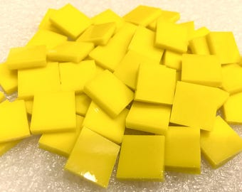 CANARY YELLOW Stained Glass 96COE Mosaic Supply C1