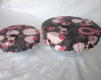 Bowl covers, fully lined, housewarming gift, reusable, eco-friendly, large & small size