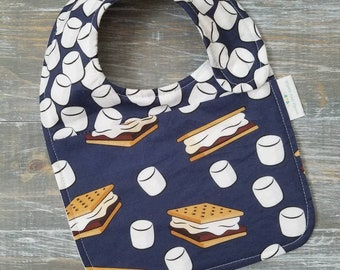 NEW item: Infant Drool Bib- S'mores
