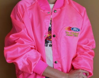 Neon Pink Flame Bomber