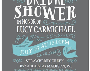 Bridal Shower Invitation, 5x7