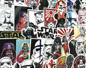 50 Very Cool Star Wars Stickers decal star wars vinyl, star wars car decal, death star sticker, darth vader stickers, starwars stickers