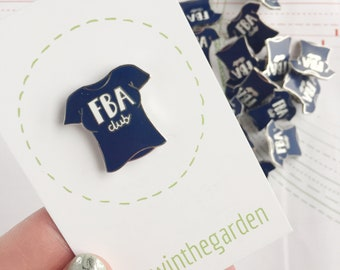 Blue FBA club enamel pin badge - sewing seamstress sewer enamel pin brooch