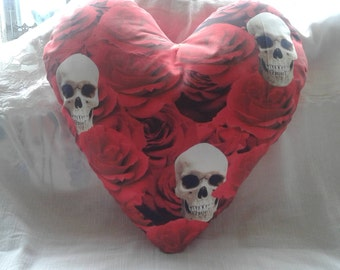 Skulls and Roses cushion