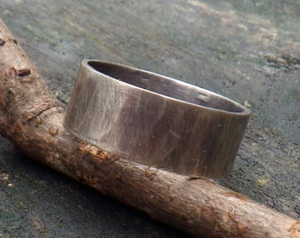Men's Ring / sterling silver band / men's band / gift for him / rustic man ring / man's wedding band / rugged ring band / jewelry sale