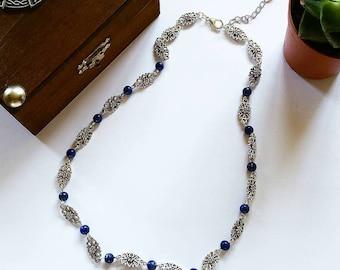 Elven Necklace: Countess Julia (Lapis Lazuli)
