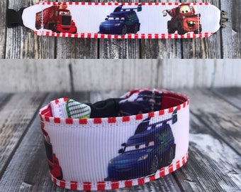 Cars inspired kids i.d bracelets, personalize, customize, cars movie