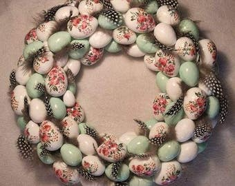 Easter wreath, Gift for her, Home decor, Easter eggs, Easter door wreath, Front door wreaths, Easter wreaths for front door, Spring wreath