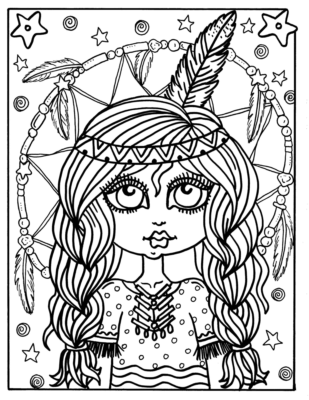 5 Seiten süße kleine indische Mädchen Farbe Digital Download