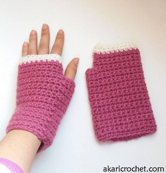 Patrón de guantes de crochet sin dedos para principiantes //
