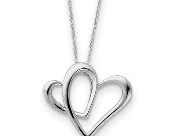 Sterling Silver Mother A Part Of My Heart 18in Necklace