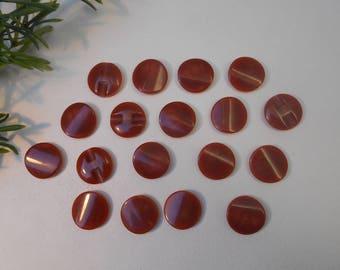 22mm caramel colored button - sold per 9