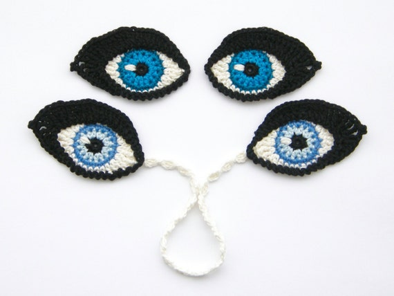 Eyes For Amigurumi : Crochet pattern eyes bookmark and applique motif for dolls