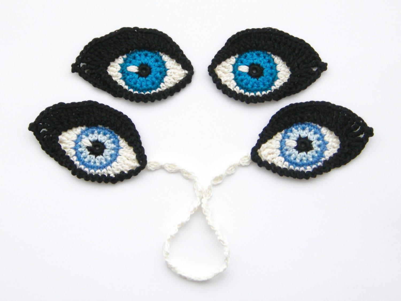 Amigurumi Eyes Pattern : Crochet pattern eyes bookmark and applique motif for dolls