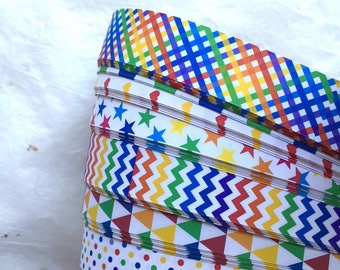 Rainbow Patterns~ Weaving Star Paper (52 strips)
