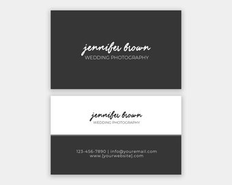 Photography Business Card Template: BIttersweet B - Photoshop Template