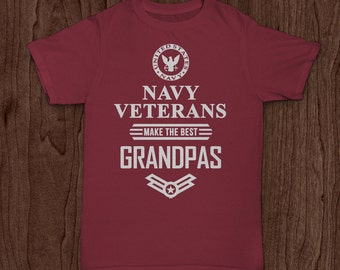 Navy Veterans make the best Grandpas - T-shirt design - cut out design - cricut cut - Digital Download