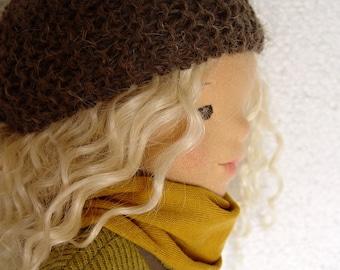 "Waldorf doll, Waldorf inspired doll, Natural fiber art doll, handmade doll, 20 inches doll, cloth doll, Betty 20"" doll"