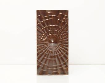 West German Op Art Brown Vase by Pfalzkeramik