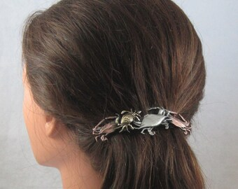 CRABS 80mm French Barrette- Hair Accessories- Barrettes and Clips- Barrette- Hair Barrette- Hair Clips