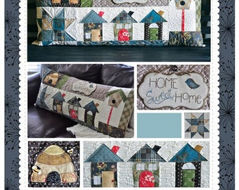 Home Sweet Home Bench Pillow Pattern by Kimberbell - KD179; Quilted Pillow Cover; Pillow Pattern; Sewing Pattern