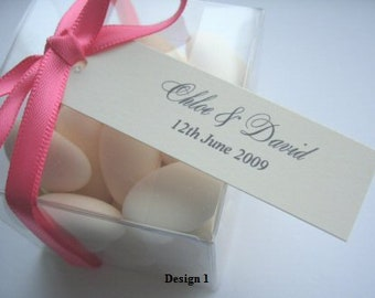 Favour Tags - Personalised Wedding Favour Tags -  Ornate Favour Tags