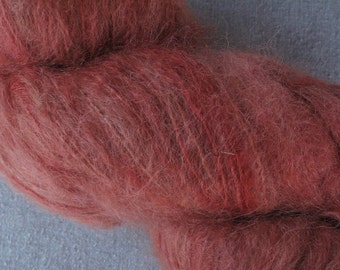 Hand Dyed Coral Fuzzy Mohair