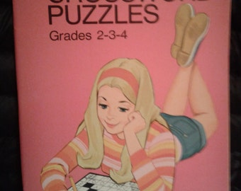 Vintage 1970's Whitman BARBIE Crossword Puzzle Book! Unused Condition!