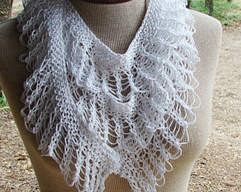 Pattern For Hand Knit Lace Ruffle Scarf