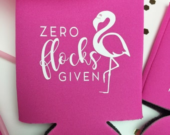 Zero Flocks GIven Flamingo Bachelorette Party Can Cooler