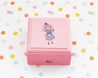 Tooth fairy Queen box/ toothfairy box/ personalised tooth box / baby tooth box / girl tooth fairy box