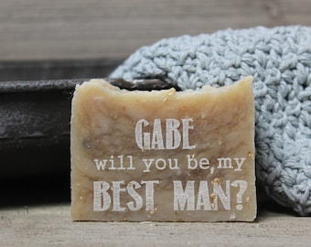 best man gift, ask gift,best man,wedding party gift, homemade soap,thank you gift,personalized