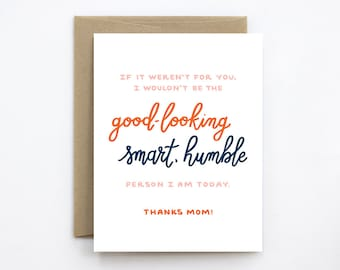 Funny Mother's Day Card - Humble