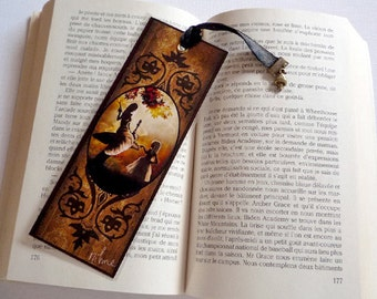 Bookmark- Alice and the caterpillar