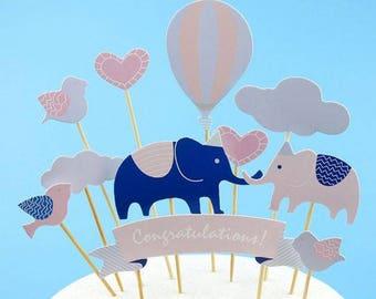 Cake topper elephant