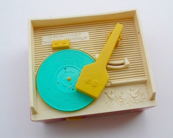 Vintage Fisher Price Music Box Record Player Vintage Toy by VintageReinvented
