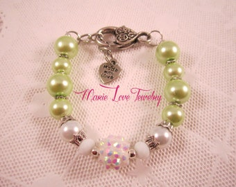 Princess Tiana Bracelet, Tiana Bracelet, Disney, Disney Princess Jewelry, Disneys Tiana Jewelry, Tiana Jewelry, Disney Princess Bracelets