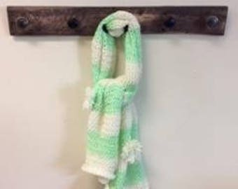 scarf, key lime and cream