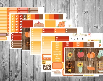 Oh Turkey DELUXE Kit | Thanksgiving Planner Stickers | Monthly Kit | Erin Condren | Happy Planner