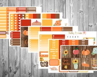 Oh Turkey DELUXE Kit | Thanksgiving Planner Stickers | Monthly Kit | Erin Condren | Happy Planner