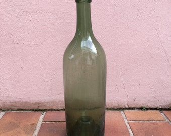Old French GreenGlass wine bottle 3