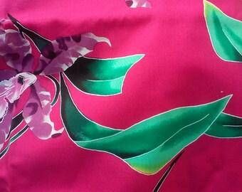 Hawaiian Print Cotton - Alexander Henry Magenta Pink Tropical Print Fabric