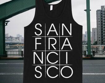 San Francisco Tic-tac-toe Tank Top