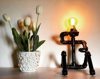 steampunk industial lamp handmade on order